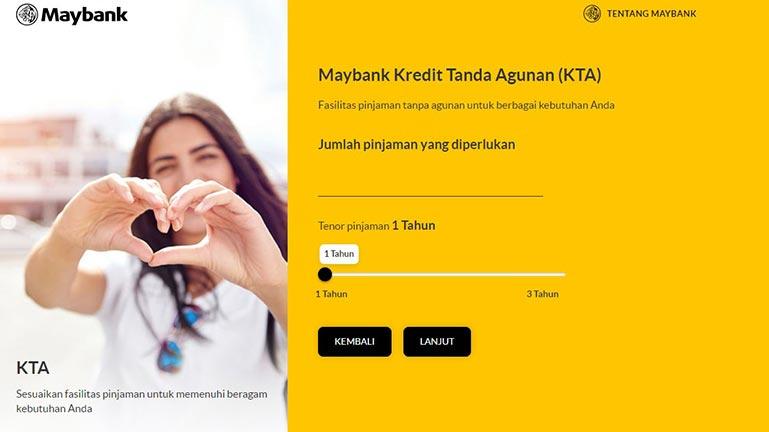 CARA SIMULASI ONLINE KTA BANK MAYBANK