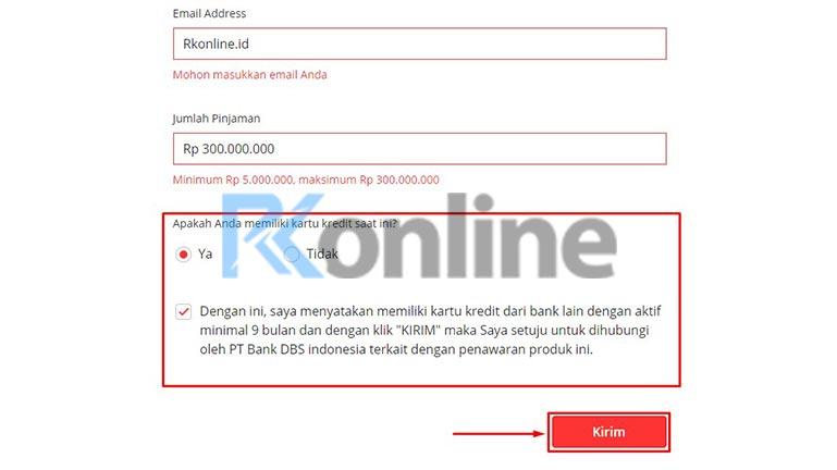 Kirim Pengajuan KTA Bank DBS
