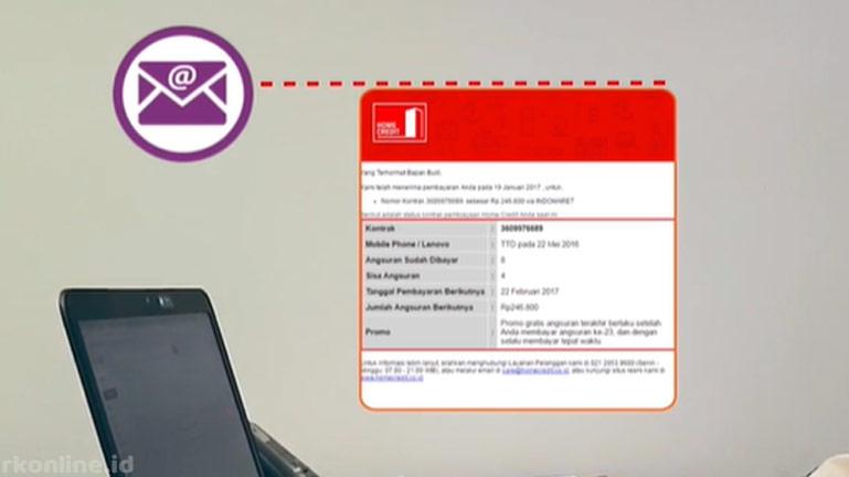 Melalui Email Konfirmasi Pembayaran
