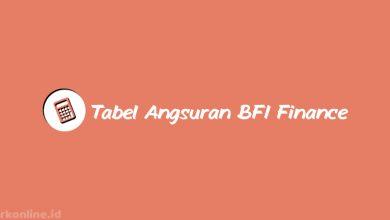 Tabel Angsuran BFI Finance 2021 dari Bunga, Tenor & Biaya