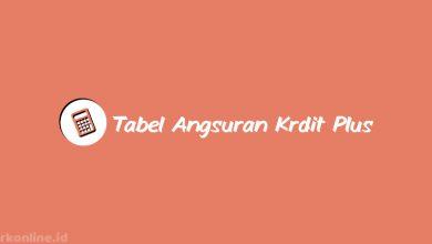 Tabel Angsuran Kredit Plus 2021 Beserta Suku Bunga & Tenor Angsuran