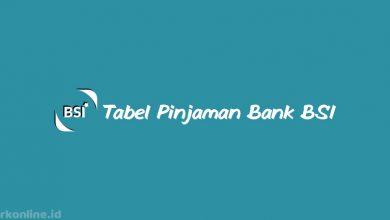Tabel Pinjaman Bank BSI dari Plafond, Tenor, Bunga dan Biaya