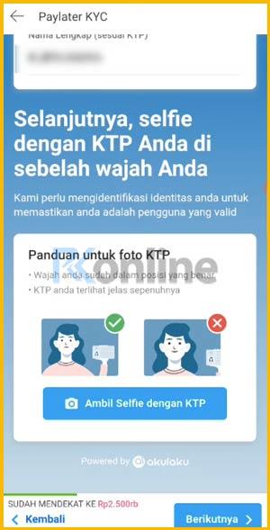 Unggah Foto Selfie Memegang e-KTP